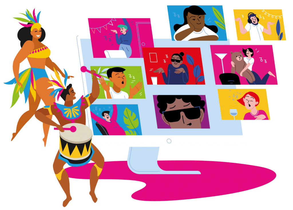 Illustration of carnival online